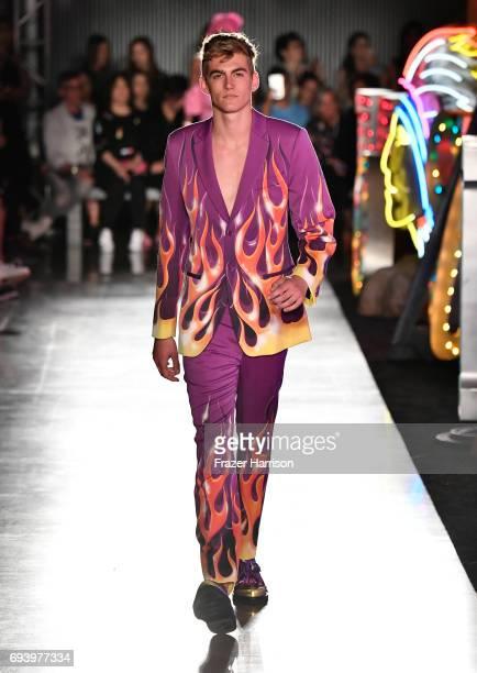 Model Presley Walker Gerber walks the runway at Moschino Spring/Summer 18 Menswear and Women's Resort Collection at Milk Studios on June 8 2017 in...