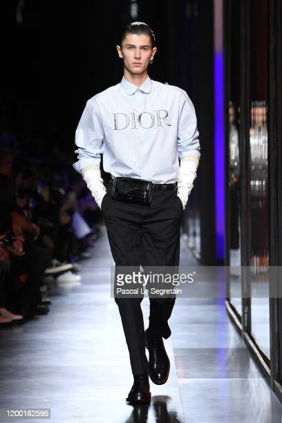 Model Prince Nikolai of Denmark walks the runway during the Dior Homme Menswear Fall/Winter 2020-2021 show as part of Paris Fashion Week on January...