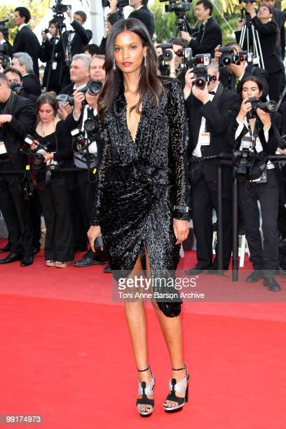 Model q attends the Premiere of 'On Tour' at the Palais des Festivals during the 63rd Annual International Cannes Film Festival on May 13 2010 in...