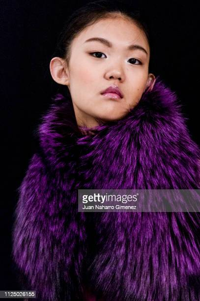 Model Qin Xiaoyue is seen backstage before the Ulises Merida fashion show during Mercedes Benz Fashion Week Madrid Autumn/Winter 201920 on January 26...