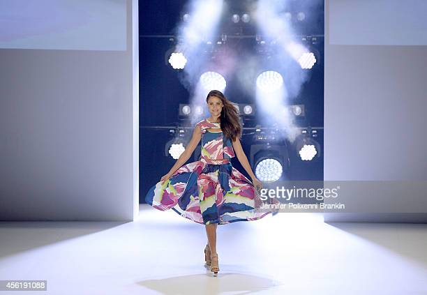 Model Rachel Finch walks the runway at the Target show during MercedesBenz Fashion Festival Sydney at Sydney Town Hall on September 27 2014 in Sydney...