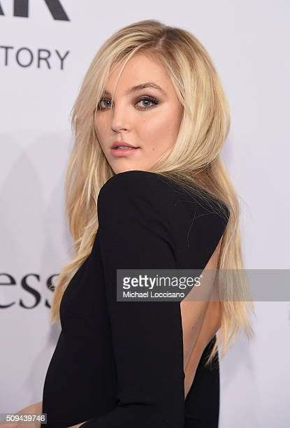 Model Rachel Hilbert attends 2016 amfAR New York Gala at Cipriani Wall Street on February 10 2016 in New York City