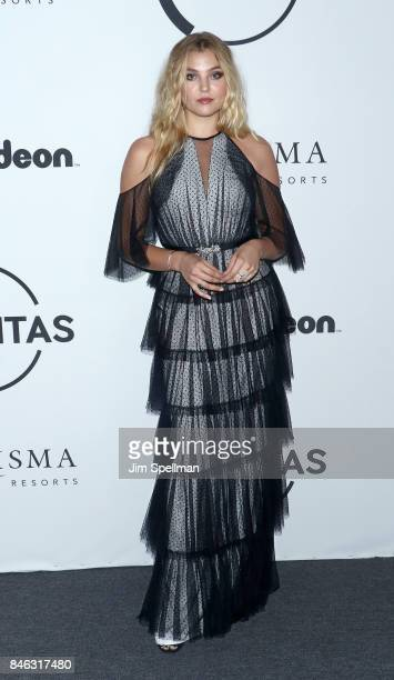 Model Rachel Hilbert attends the 2017 Unitas Gala at Capitale on September 12 2017 in New York City