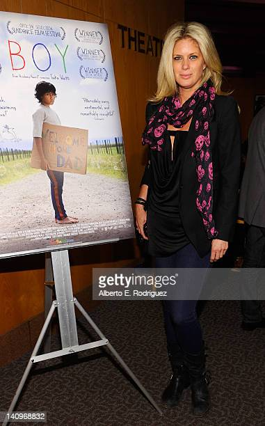 Model Rachel Hunter attends a special advance screening of 'Boy' at DGA Theater on March 8 2012 in Los Angeles California