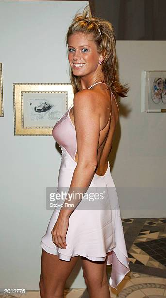 Model Rachel Hunter attends the Laureus Sport for Good Foundation Dinner and Auction at the Monte Carlo Sporting Club on May 19 2003 in Monaco