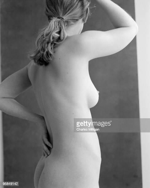Model Rachel poses nude circa 1980