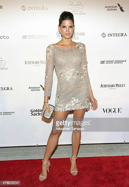 Model Raica Oliveira arrives at the third annual BrazilFoundation Gala Miami at Perez Art Museum Miami on March 15 2014 in Miami Florida