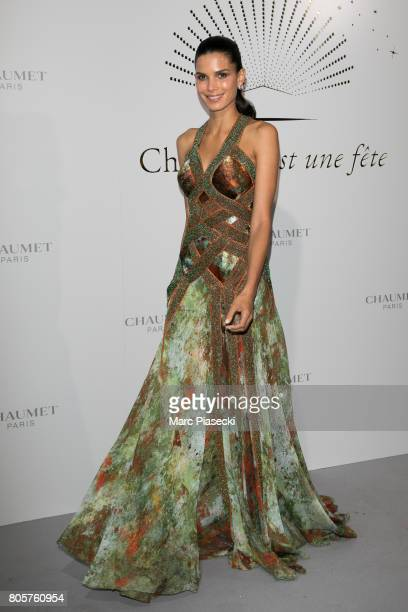 Model Raica Oliveira attends the 'Chaumet Est Une Fete' Haute Joaillerie Collection Launch as part of Haute Couture Paris Fashion Week on July 2 2017...