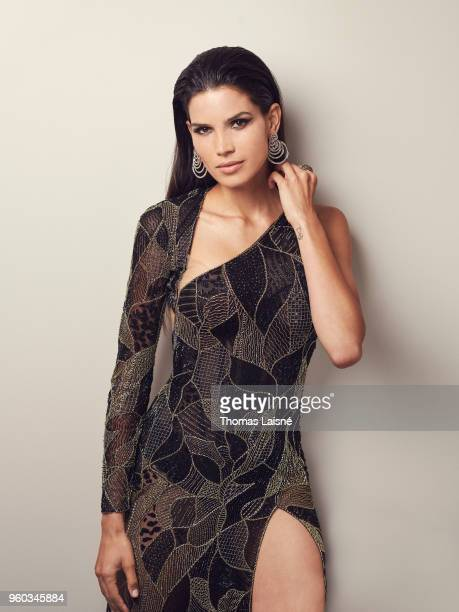 Model Raica Oliveira is photographed for Gala Croisette on May 2018 in Cannes France