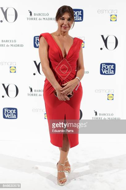 Model Raquel Revuelta attends the 'Yo Dona MBFW opening party' photocall at Barcelo hotel on September 13 2017 in Madrid Spain