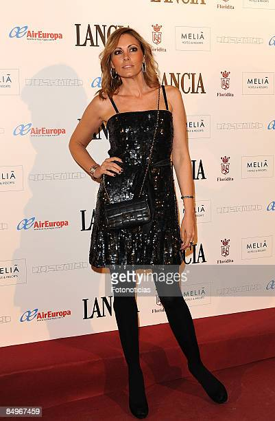 Model Raquel Rodriguez arrives at Jose Miro aftershow party at Melia Los Galgos Hotel on February 21 2009 in Madrid Spain