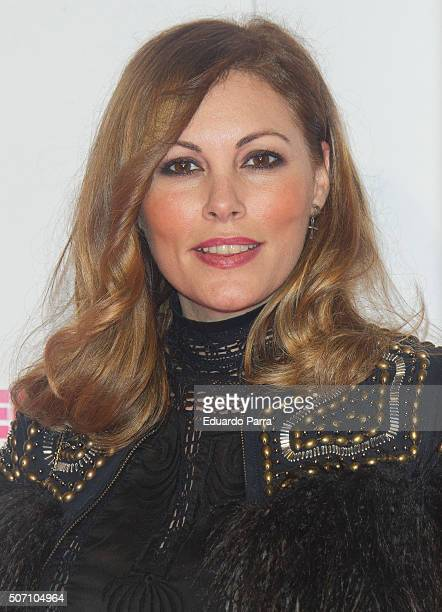 Model Raquel Rodriguez attends 'Embarazados' premiere at Capitol cinema on January 27 2016 in Madrid Spain