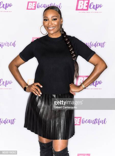 Model reality television star and actress Cynthia Bailey attends the Be Expo 2018 at Pennsylvania Convention Center on March 17 2018 in Philadelphia...