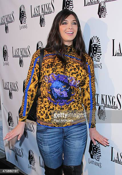 Model / Reality TV Personality Brittny Gastineau attends the press preview at Tyga's Last Kings flagship store on February 20 2014 in Los Angeles...