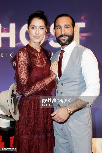 Model Rebecca Mir and her husband dancer Massimo Senato during the premiere of 'Ghost Das Musical' at Stage Theater on December 7 2017 in Berlin...