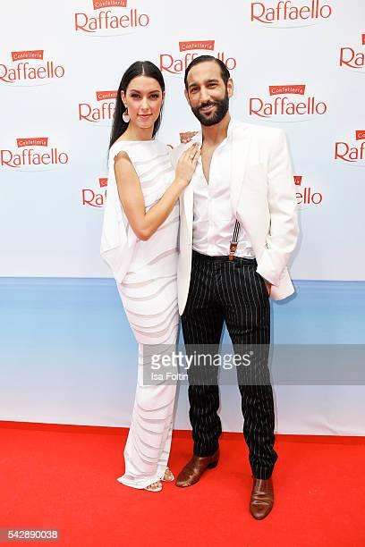 Model Rebecca Mir and her husband dancer Massimo Sinato attend the Raffaello Summer Day 2016 to celebrate the 26th anniversary of Raffaello on June...