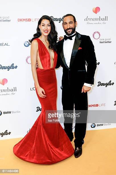 Model Rebecca Mir and her husband dancer Massimo Sinato attend the Dreamball 2016 at Ritz Carlton on September 29 2016 in Berlin Germany