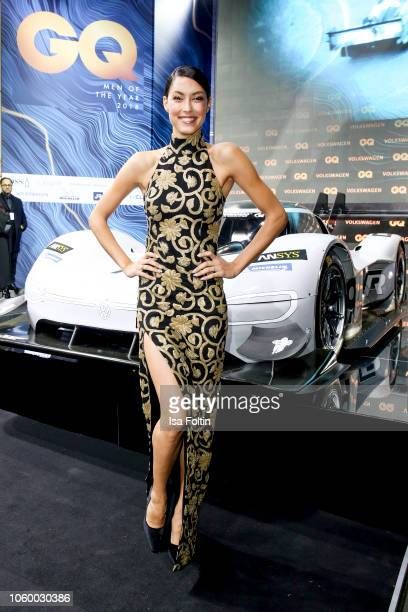 Model Rebecca Mir arrives for the 20th GQ Men of the Year Award at Komische Oper on November 8 2018 in Berlin Germany