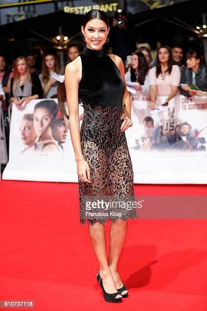Model Rebecca Mir attends the german premiere 'Unsere Zeit ist jetzt' at CineStar on September 27, 2016 in Berlin, Germany.