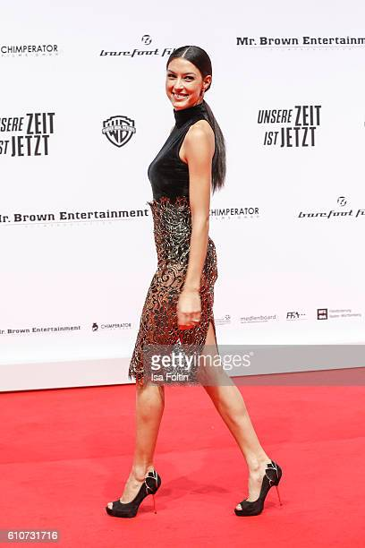 Model Rebecca Mir attends the 'Unsere Zeit ist jetzt' World Premiere at CineStar on September 27 2016 in Berlin Germany