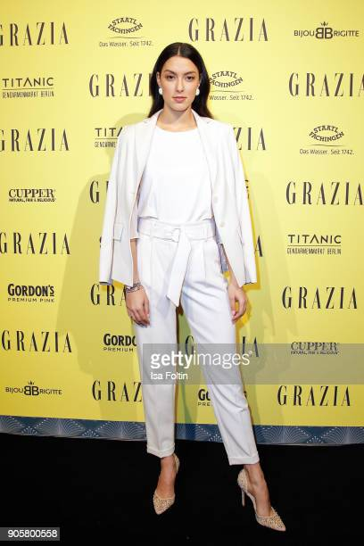 Model Rebecca Mir during the Grazia Fashion Dinner at Titanic Deluxe Hotel on January 16 2018 in Berlin Germany