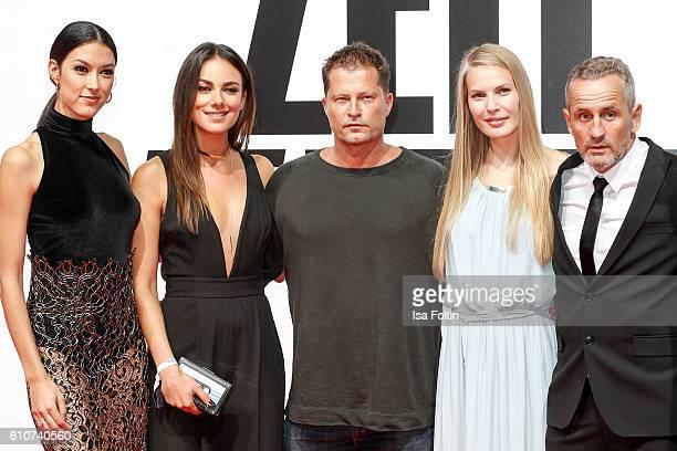 Model Rebecca Mir german actress Janina Uhse german actor Til Schweiger and german actor Tim Wilde attend the 'Unsere Zeit ist jetzt' World Premiere...