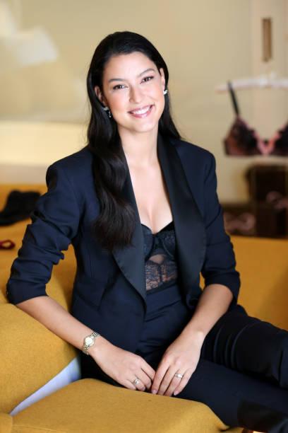 DEU: Rebecca Mir Hunkemoeller Photocall At Hotel Beyond Munich