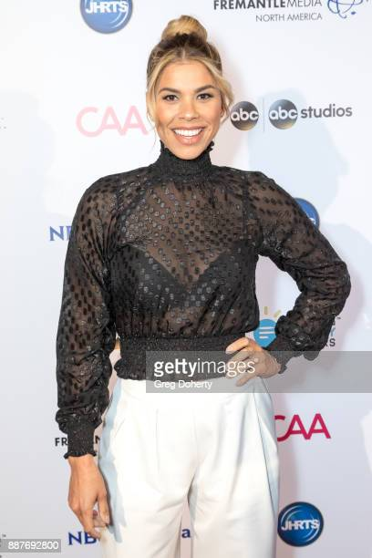 Model Recording Artist and Actress Gwendolyn OsborneSmith attends The Junior Hollywood Radio Television Society's 15th Annual Holiday Party at Le...