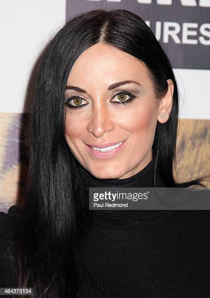 Model Regina Salpagarova attends 'Give Me Shelter' Los Angeles Premiere at West Hollywood City Hall on February 24 2015 in West Hollywood California