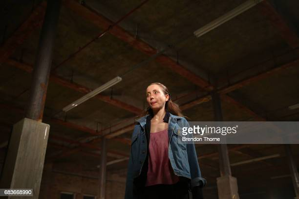 A model rehearses ahead of the Christopher Esber show at MercedesBenz Fashion Week Resort 18 Collections at The Clothing Store on May 16 2017 in...
