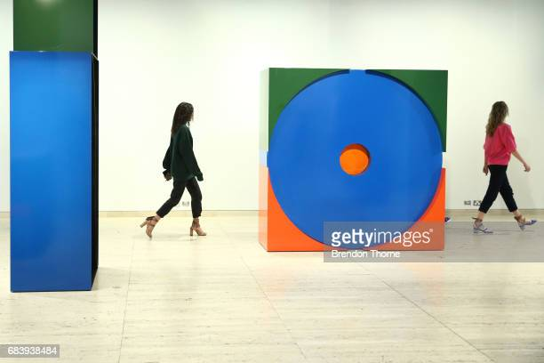 A model rehearses ahead of the Ginger Smart show at MercedesBenz Fashion Week Resort 18 Collections at Art Gallery of New South Wales on May 17 2017...