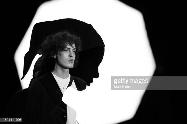 Model rehearses ahead of the Next Gen show during Afterpay Australian Fashion Week 2021 Resort '22 Collections at Carriageworks on June 01, 2021 in...