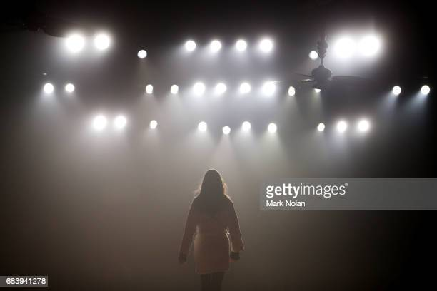 A model rehearses ahead of the We Are Kindred show at MercedesBenz Fashion Week Resort 18 Collections at Carriageworks on May 17 2017 in Sydney...