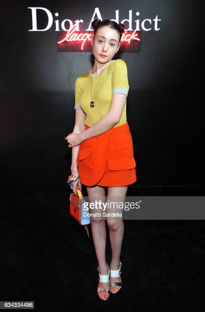 Model Reina Triendl attends Dior Beauty celebrates the launch of Dior Addict Lacquer Stick in the presence of Peter Philips in LA at Delilah on...
