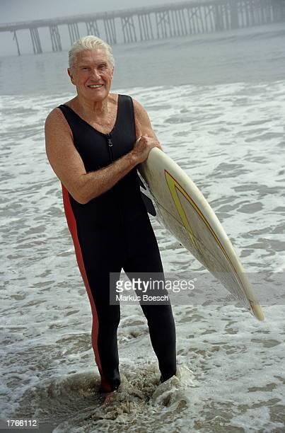 Mature surfer portrait
