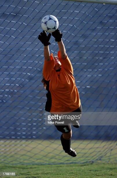 Soccer, female goalie