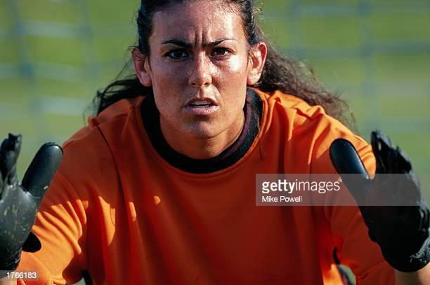 Soccer, female goalkeeper