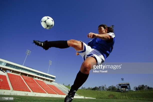 Soccer female player