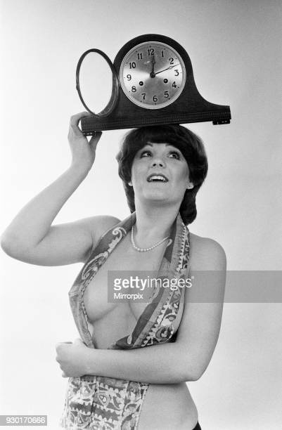 Model reminding people to put their clocks back by one hour at the end of British Summer Time 25th October 1979