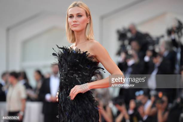 Model Renata Kuerten arrives for the opening ceremony of the 74th Venice Film Festival and the premiere of the movie 'Downsizing' on August 30 2017...