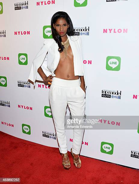 Model Renee Bhagwandeen arrives at the America's Next Top Model Cycle 21 Premiere Party Presented By NYLON and LINE at SupperClub Los Angeles on...