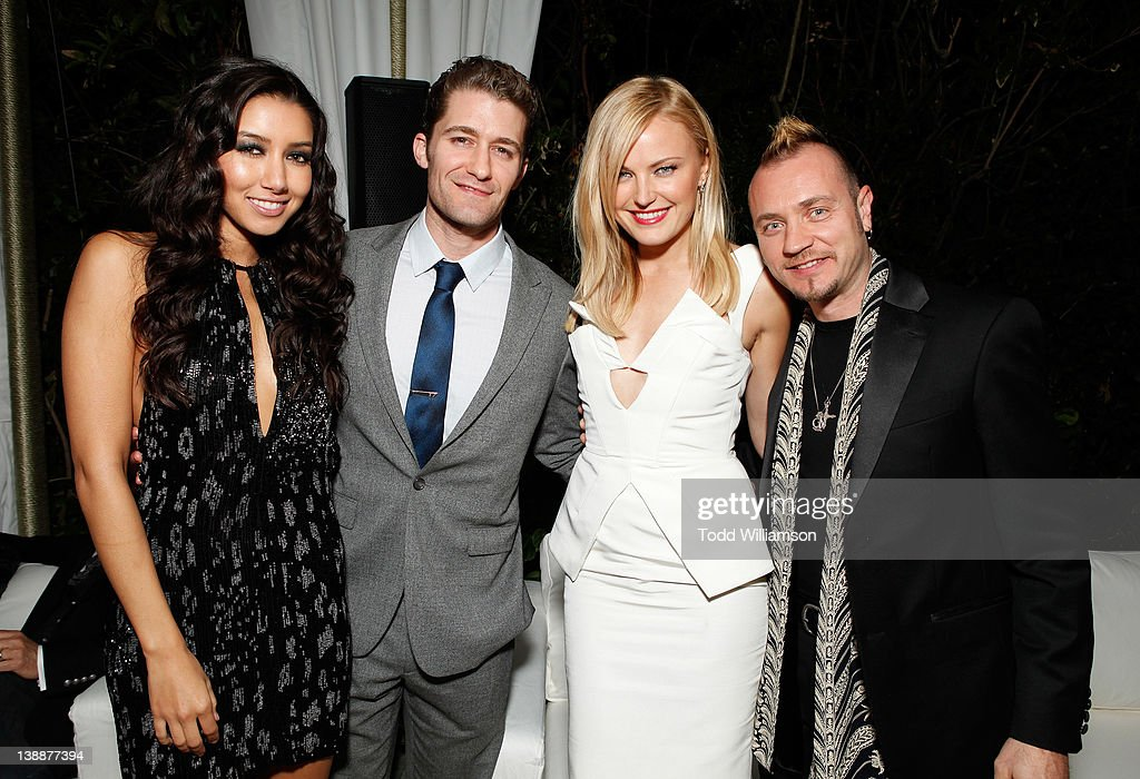 Model Renee Puente, actors Matthew Morrison, Roberto Zincone, and Malin Akerman attend Warner Music Group Grammy Celebration hosted by InStyle at Chateau Marmont on February 12, 2012 in Los Angeles, California.