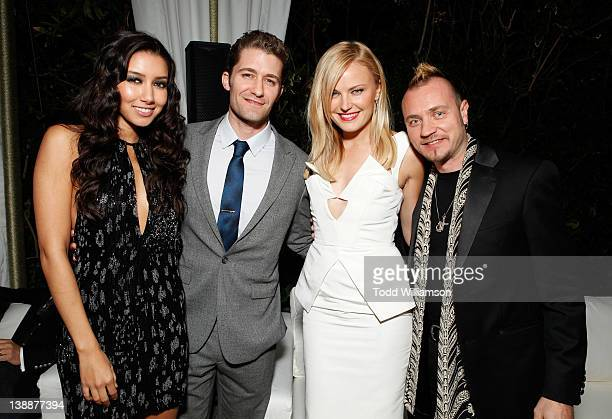 Model Renee Puente actors Matthew Morrison Roberto Zincone and Malin Akerman attend Warner Music Group Grammy Celebration hosted by InStyle at...