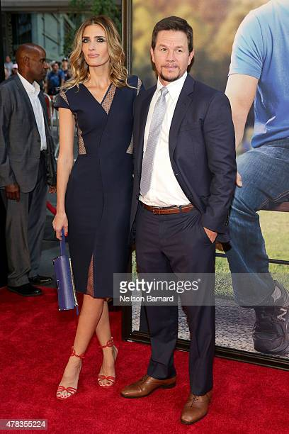 Model Rhea Durham and Actor Mark Wahlberg attend the New York Premiere of Ted 2 at the Ziegfeld Theater on June 24 2015 in New York City