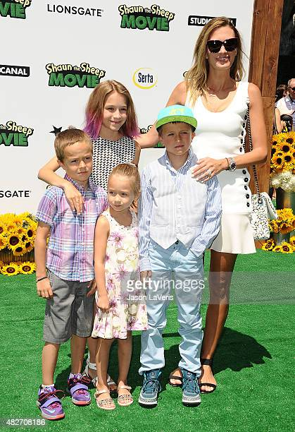 Model Rhea Durham and children Brendan Joseph Wahlberg Grace Margaret Wahlberg Ella Rae Wahlberg and Michael Wahlberg attend a screening of...