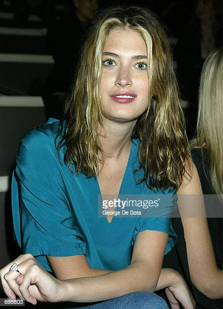 Model Rhea Durham attends the Sean John Fall Winter Mercedes Benz Fashion Show 2002 February 9 2002 at Cipriani in New York Fashion week ends...