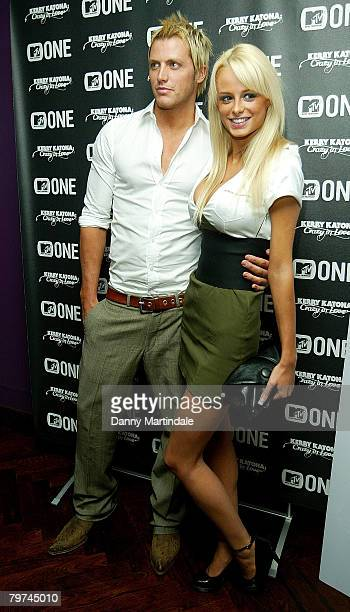 Model Rhian Sugden and friend attend Kerry Katona's party celebrating impending birth of her fourth child at the The Hospital on February 13 2008 in...