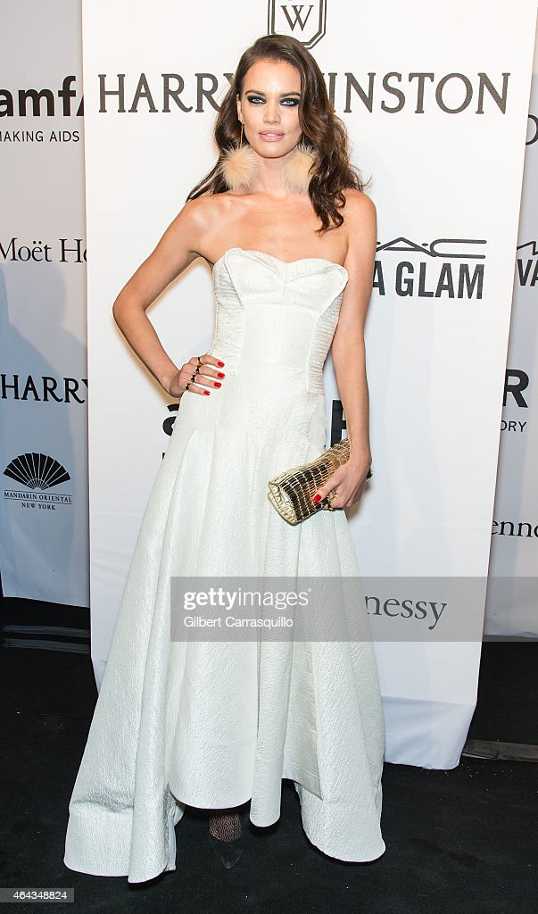 Model Rianne ten Haken attends the 2015 amfAR New York Gala at Cipriani Wall Street on February 11, 2015 in New York City.