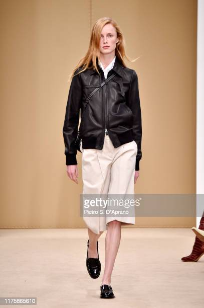 Model Rianne van Rompaey walks the runway at the Tod's show during the Milan Fashion Week Spring/Summer 2020 on September 20, 2019 in Milan, Italy.