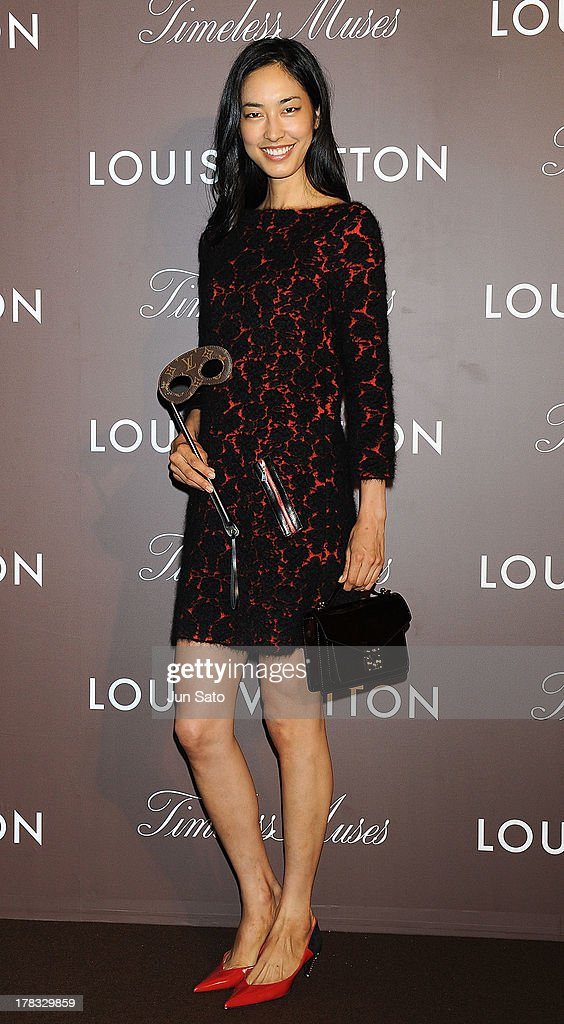 Model Rika Tatsuno attends Louis Vuitton 'Timeless Muses' exhibition at the Tokyo Station Hotel on August 29, 2013 in Tokyo, Japan.